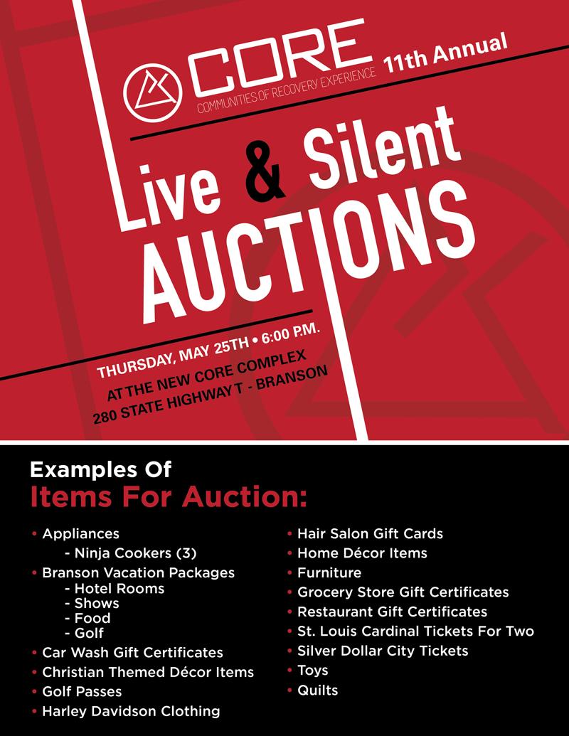 CORE auction items