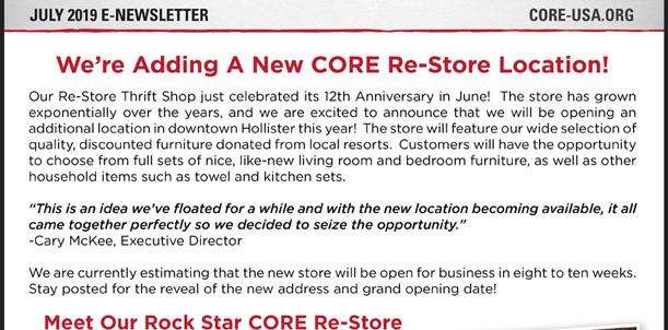 July Newsletter Snippet